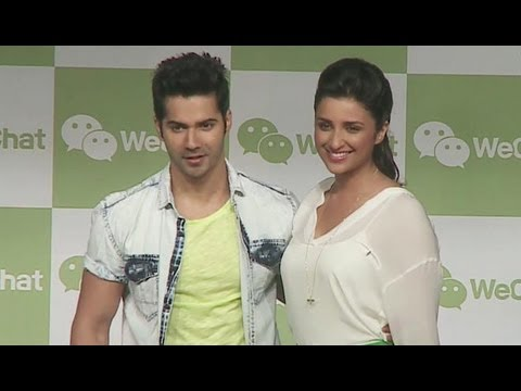 Parineeti Chopra, Varun Dhawan Launch WeChat
