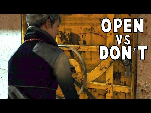 Kara Open vs Don't Open the Door On Jericho - Detroit Become Human HD PS4 Pro