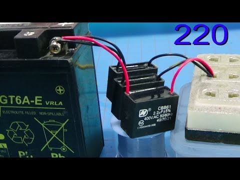 How to charge the battery with fan capacitor without transformer
