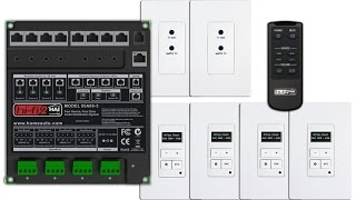 Leviton 95A00-3 Hi-Fi 2 Distributed Audio System With 4 Zone Audio System and 4 Source Kit For Home