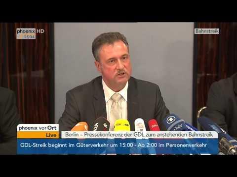 GDL-Streik: Claus Weselsky zu Verhandlungen mit der Deutschen Bahn am 05.11.2014