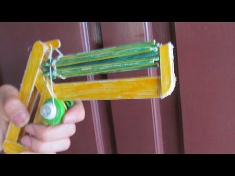 วิธีที่จะทำให้ยางปืนวงดนตรีโดยใช้ไม้ไอติม | 20 วงยาง