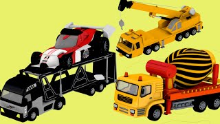 surprise egg toys  - Crane and Trucks, Excavator playing with kids | Construction toys | Jugnu Kids