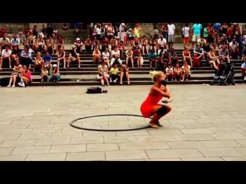 Female Cyr Wheel Acrobatics in Europe