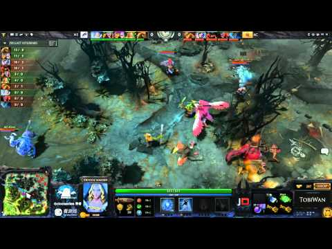 AC vs New Element Game 1 - SinaCup China DOTA 2 1st Qualifier - TobiWan & Basskip