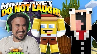 TRY NOT TO LAUGH CHALLENGE - Spongebob Edition in Minecraft