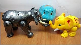 Đồ chơi 3 con voi ma mút chạy pin vừa đi vừa đẻ chú voi con mammoth elephants toy for kids