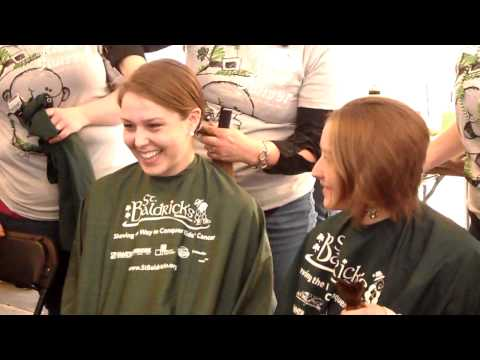 Gabriella & Rebecca Shave Their Heads Bald - St Baldrick's - Napper Tandy's, Nc - March 3, 2012 video