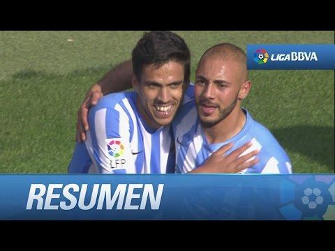Resumen de Málaga CF (2-2) Atlético de Madrid