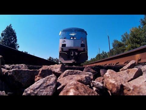 the amtrak palmetto #90 speeding over my camera [hd] youtube