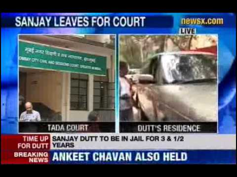 News X : Sanjay Dutt leaves for TADA Court - Part 2