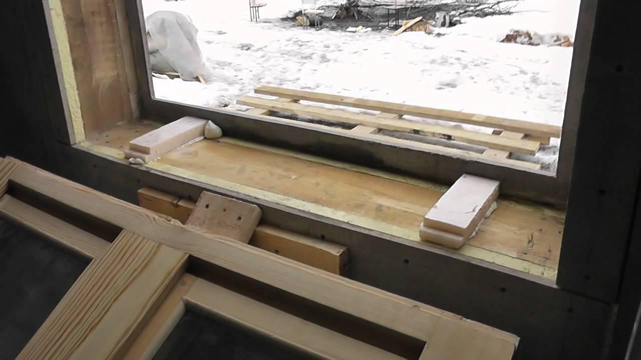 Как установить пластиковое окно в каркасном доме своими руками