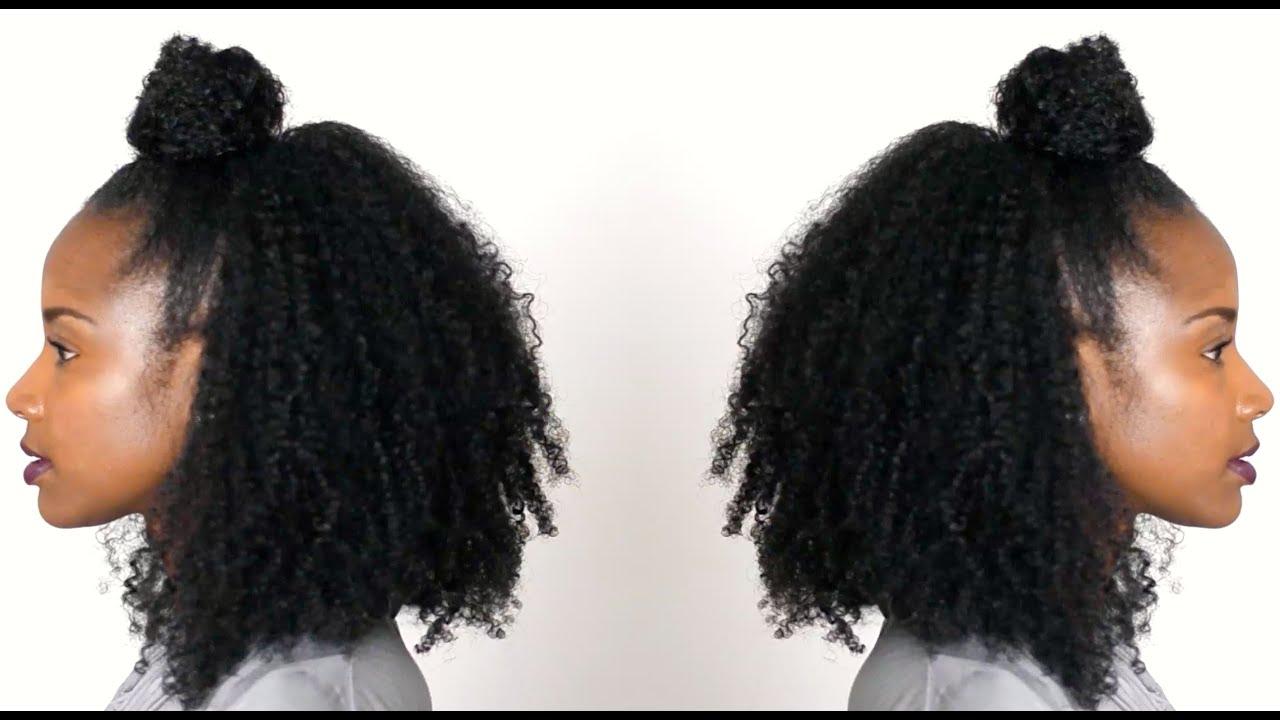 Half Bun Half Down Natural Hair Natural Hair Half up Half