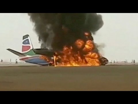 'Miraculous' escape from burning plane