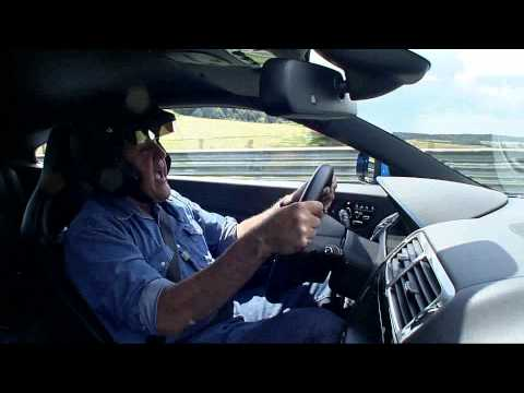 Jay Leno takes Jaguar XKR-S for hot lap around Nürburgring