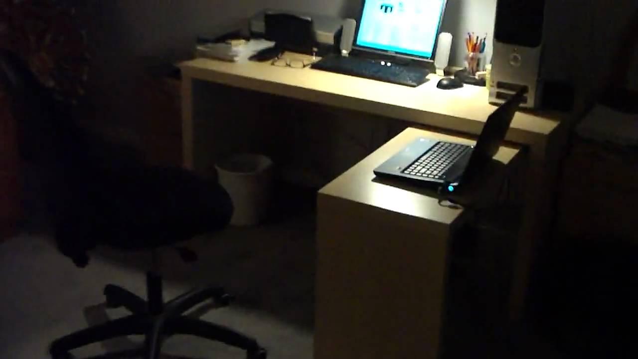 My New Desk Ikea Jonas Youtube