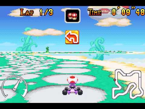 Mario Kart - Super Circuit - Mario Kart - Super Circuit (GBA) - Sky Garden shortcuts - User video