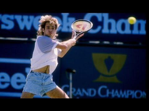 ANDRE AGASSI FUNNY HIGHLIGHTS from the 80s new