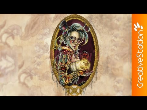 Steampunk girl - Speed Painting (#Photoshop) | CreativeStation