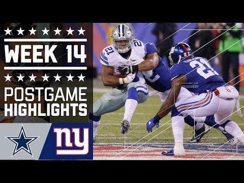 9 Cowboys Vs Giants Nfl Week 14 Game Highlights