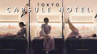 24 HOURS IN A TOKYO CAPSULE HOTEL! (Japan Vlog)