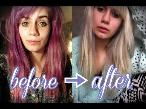 How I Went From Purple To BlondeColour B4 Review YouTube