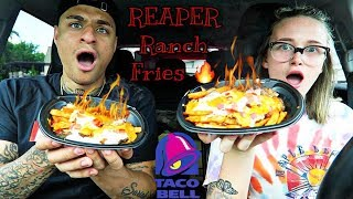 Trying Taco Bell's new REAPER FRIES!!