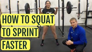Track Lifting Workout | How To Squat To Sprint Faster