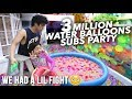 3 MILLION WATER BALLOONS SUBSCRIBERS LIL FIGHT | Ranz and Niana