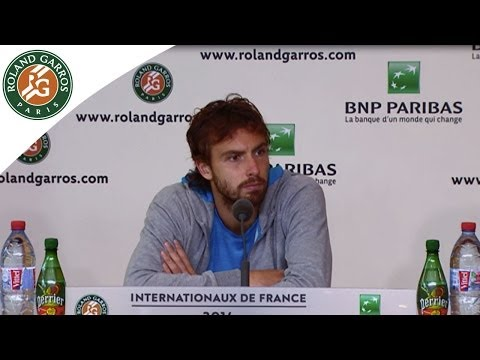 Press conference E.Gulbis 2014 French Open QF
