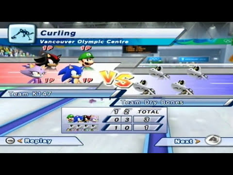 Mario and Sonic at the Olympic Winter Games Playthough [Team] [Day 13]