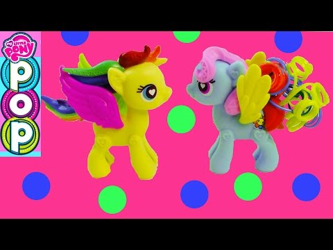 MLP POP Custom Maker My Little Pony Fluttershy Rainbow Dash Toys Unboxing Review