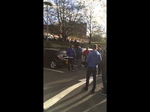 Wolves vs Birmingham post match car park 1/11/14