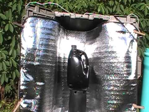 1 Home Made Solar Shower Water Heater Youtube