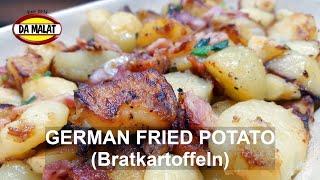Delicious Fried Potato Recipe | Bratkartoffeln | German Fried Potatoes | German Street Food
