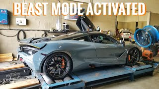 Tuned McLaren 720s Hits The Dyno And Shoots Flames