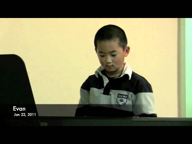 Evan's Winter Music Recital 2011