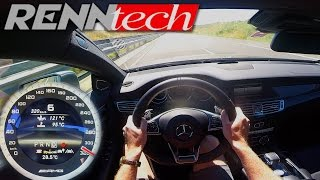 740HP Mercedes Benz CLS 63 AMG 320 km/h TOP SPEED Autobahn POV Test Drive by AutoTopNL
