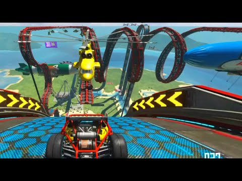 Trackmania Turbo Roller Coaster Epic Upside Down Stunt Jump