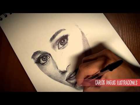 Drawing Ariana Grande Dibujando a Ariana Grande