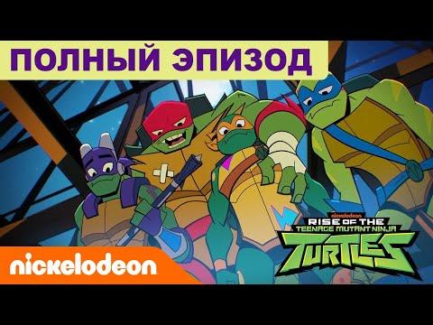 ПОЛНЫЙ ЭПИЗОД 🗡️ Эволюция Черепашек-ниндзя 'Загадочная заварушка' [6+]   Nickelodeon Россия