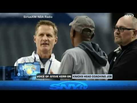 Steve Kerr talks about coaching the Knicks