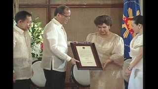 Conferment of the Orden of National Artists upon Fernando Poe Jr. 8/16/2012