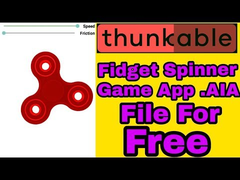 Fidget Spinner Game App .AIA File for Free | Thunkable #1