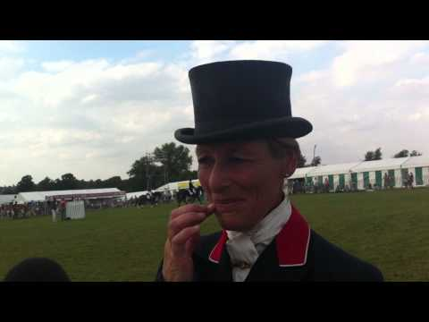 Mary King after her 3rd place dressage at Land Rover Burghley 2011
