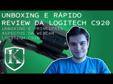 Unboxing e rápido review da Logitech c920 [Teste de audio e video]