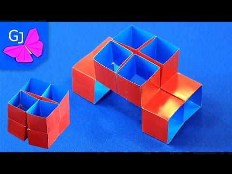 Волшебный Куб Трансформер из бумаги