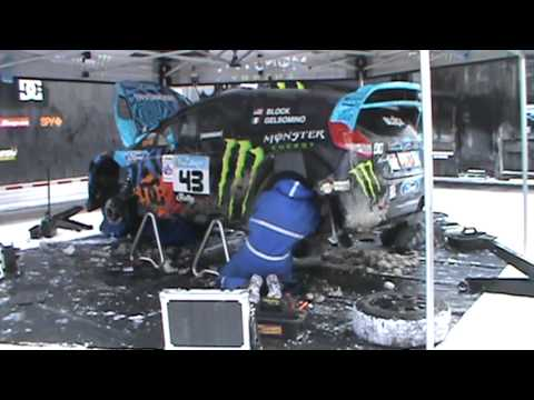 Ken Blocks New Car!! 2013 Ford Fiesta  Plus The Hoonigan Pit Crew and Ken Block!!!