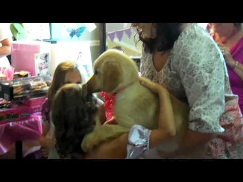 Father/Daughter Birthday puppy surprise