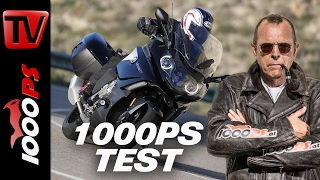 1000PS Test- BMW K1600GT | Präsidentenfuhre mit SOS-System | Crash-Test